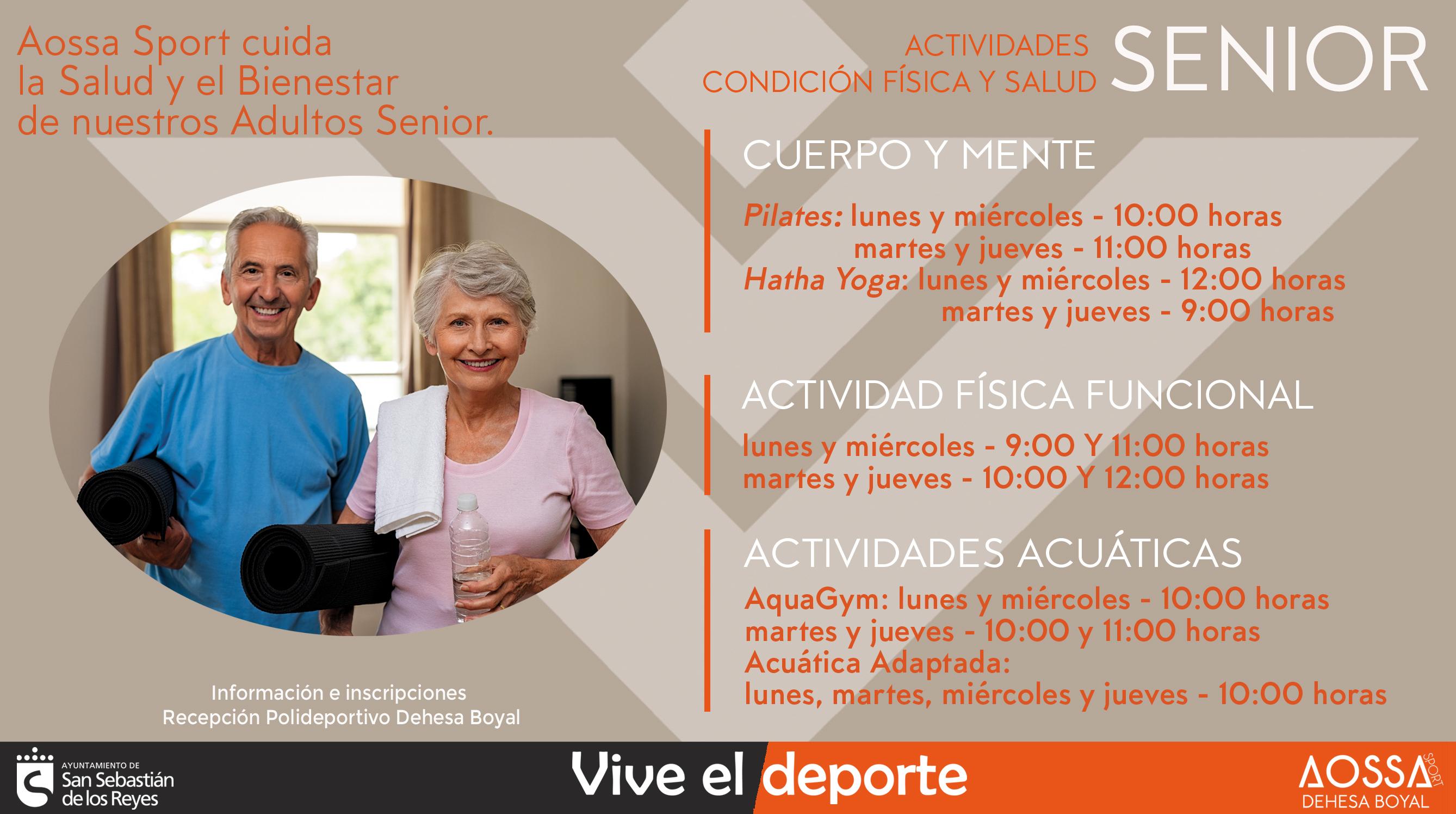Nuevas Actividades Senior de Condición física y Salud