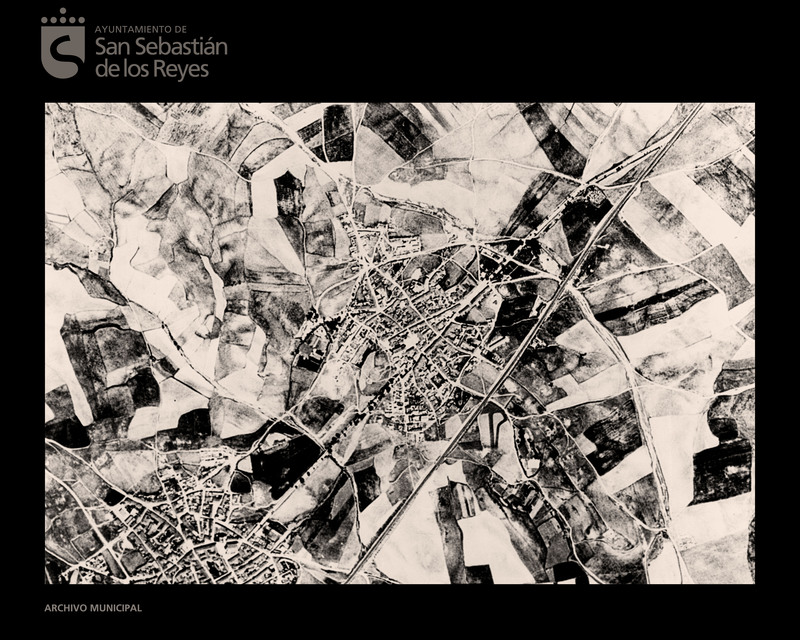 Foto aérea en los años 50 del siglo pasado