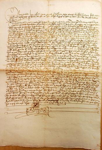 Documento de la Cancillería Real de los Reyes Católicos