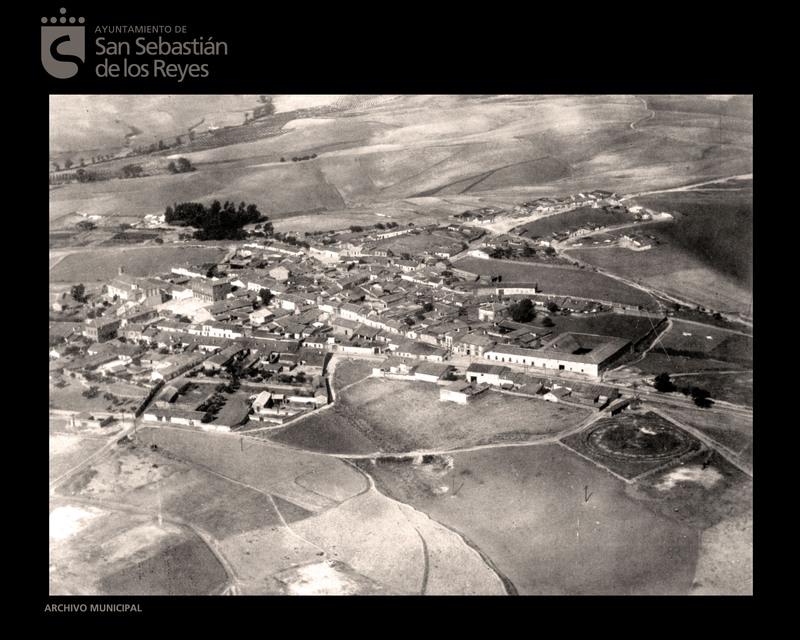 Foto aérea en los años treinta