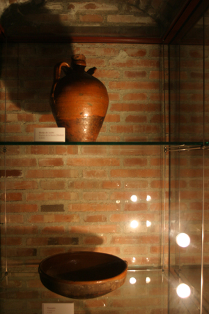 Botija de aceite y cazuela