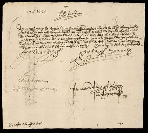 1496, diciembre, 29. San Mateo. Archivo Municipal de Toledo