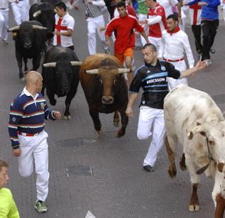 Primer encierro de las Fiestas de 2013