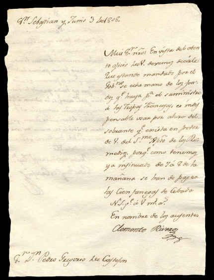 3 de junio de 1808. Anverso