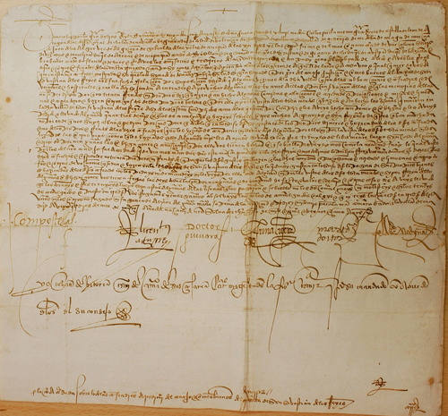 Provisión Real de la Cancillería del Emperador Carlos I