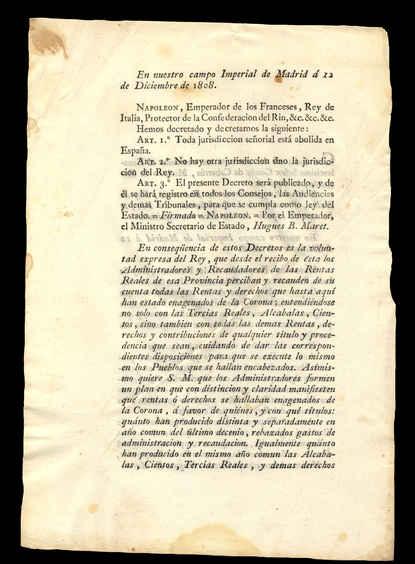 12 de diciembre de 1808. Reverso