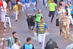 Los corredores, a su paso por la calle Estafeta.