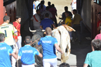 Los toros, en el momento de su entrada en la plaza.