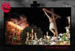 Imagen del Cristo con juegos pirotécnicos