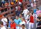 Selección  de imágenes del encierro del 30 de agosto de 2010