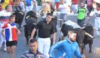 Los toros de Carlos Charro, muy agrupados durante el recorrido