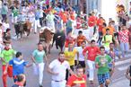 Corredores en calle Estafeta. Ganadería Juan Albarrán