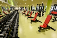 Sala de musculación. Zona de peso libre