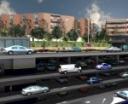 Vista transversal del aparcamiento publico del Paseo de Europa
