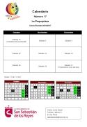 Calendario último trimestre La Pequeplaza