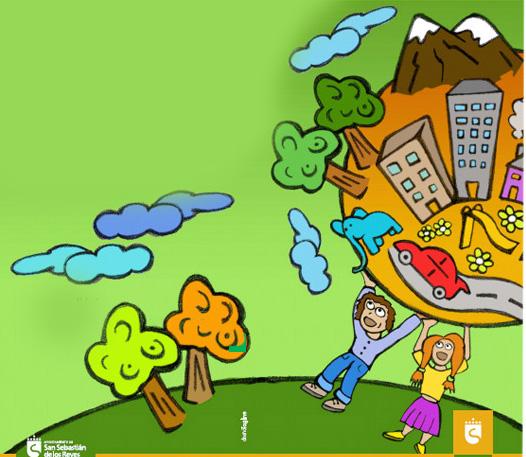 imagen niños protegen planeta