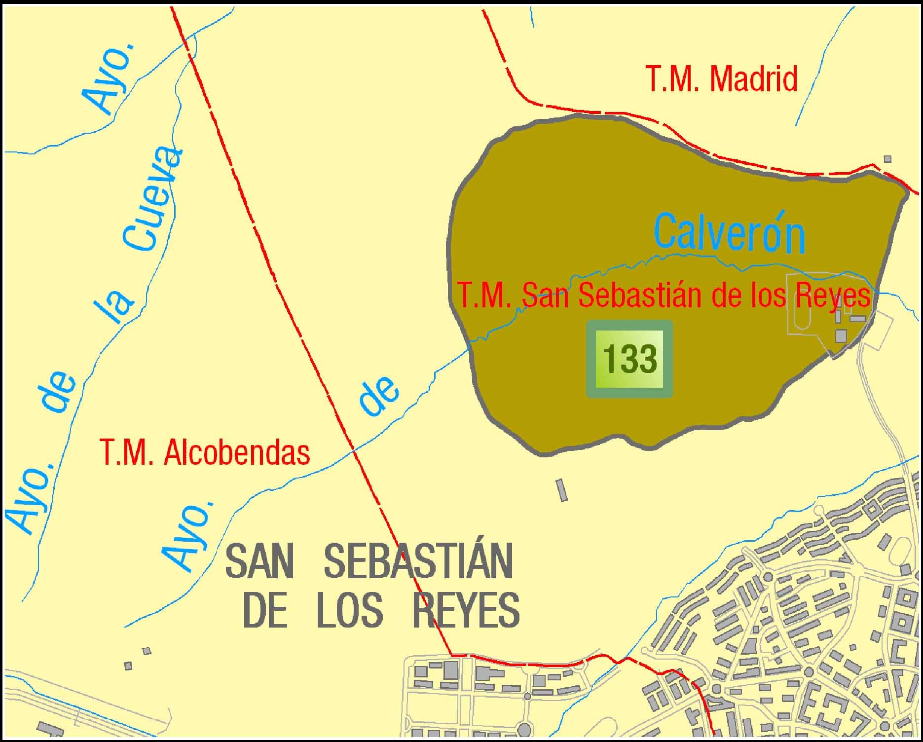 Mapa de la Dehesa Boyal