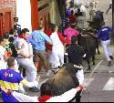 Entrada de los corredores a la plaza de toros.