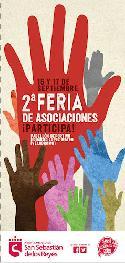 Portada del tríptico de la II Feria de las Asociaciones y del Comercio Justo.
