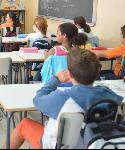 Un grupo de alumnos de un colegio de San Sebastián de los Reyes.