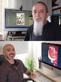 Iñaki Fernández y Juanjo Ruiz ganadores de los concursos de carteles fiestas y encierros de 2019.