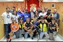 Varios representantes de los equipos de 'softbol' han visitado el Ayuntamiento.