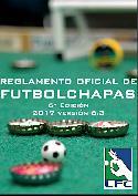 ortada del reglamento de Futbol chapa editado por la Federación.