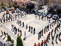 Homenaje a las víctimas del COVID-19 en el marco del luto oficial decretado .