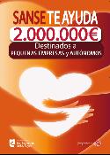 Cartel del programa 'Sanse te ayuda', para autónomos y PYMEs. (Pulsa en la imagen para ampliar)